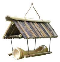 Bamboo Bird House & Feeder (BBF-02)