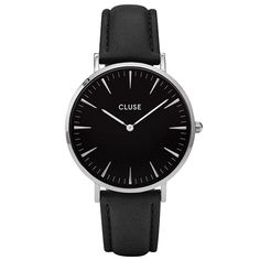 CLUSE-La-Bohème-Silver-Black-Armbanduhr