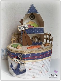 "Maria Lina's Creative Designs: ""Gone Fishin"" Box of Shells"