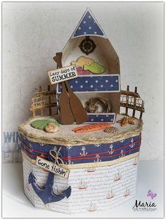 "Maria Lina's Creative Designs: ""Gone Fishin"" Box of Shells"
