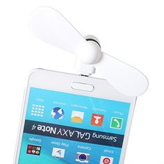 StyleTech Inc Portable Cool Mini Rotating Fan for MicroUSB Ports Compatible with Samsung LG Motorola HTC etc 1 White * Learn more by visiting the image link.