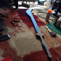 Well the Gouf sword is slowly coming together #gundam #Gouf #foam #foamsword #sword #gundamsword #goufsword #evafoam #eva #cosplay #prop #cosplayprop #propsword #gundamprop #foamprop #animeprop #animecosplay #foamweapon #weapon