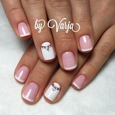 белый by Varia Manicure, Shellac Nails, Acrylic Nails, Love Nails, Pretty Nails, My Nails, Fabulous Nails, Perfect Nails, Glam Nails