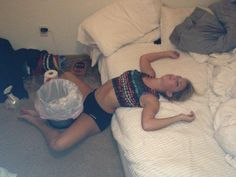Bad Night Of Drinking Shes gonna need that trash can.