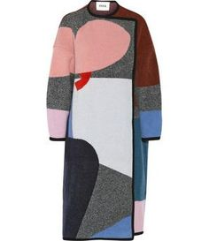 NET-A-PORTER - Clemence patterned wool and cashmere-blend coat