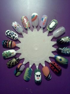 My first nail art wheel.