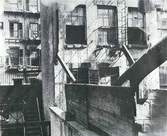 Tenement Fire Escapes by Jacob Riis