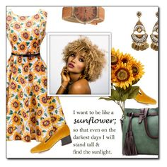 """Sunflower Girl #50"" by dorinela-hamamci ❤ liked on Polyvore featuring Chloé"