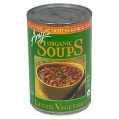 Amys Organic Lentil Vegetable Low Salt Soup 145Ounce Cans Pack of 12  Value Bulk MultipackPack of 72 * Amazon most trusted e-retailer #OrganicVegetables