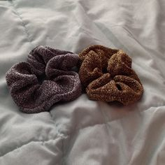 American Apparel Gold & Silver scrunchies Both scrunchies only worn once! 2 for 1 price American Apparel Accessories Hair Accessories
