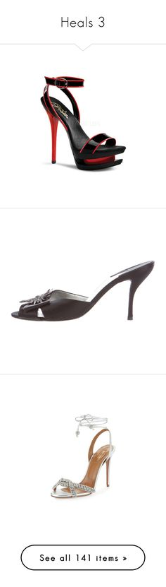 """""""Heals 3"""" by thesassystewart on Polyvore featuring shoes, high heel shoes, red patent shoes, black platform shoes, black high heel shoes, high heeled footwear, leather upper shoes, fancy footwear, stacked heel shoes and bow shoes"""