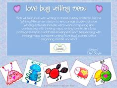 Kids will fall in love with writing to these cutesy critters! Use this Writing Menu as a rotation to encourage student choice. First, students ...
