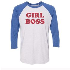 Girl Boss Shirt Adorable girl boss shirt Tops Tees - Long Sleeve
