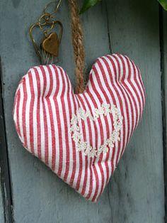 Sweet striped heart