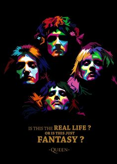 Pop Art Posters, Room Posters, Poster Prints, Fantasy Queen, Rock Band Posters, Queen Poster, Queens Wallpaper, Band Wallpapers, Estilo Rock