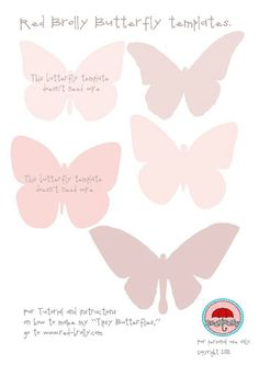 Butterfly Templates  Printables