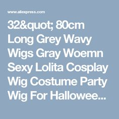 "32"" 80cm Long Grey Wavy Wigs Gray Woemn Sexy Lolita Cosplay Wig Costume Party Wig For Halloween Christmas Party Peruca Pelucas-in Synthetic Wigs from Health & Beauty on Aliexpress.com 
