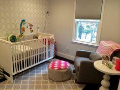 Love nursery crib a and glider