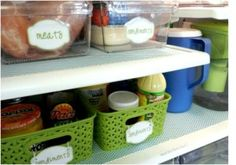 Use baskets in your refrigerator to keep things organized and easy to find.