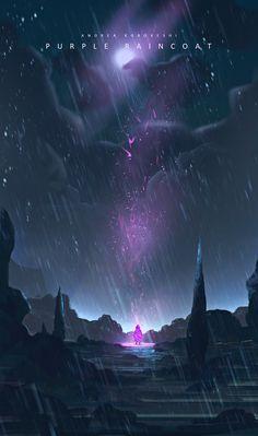 Purple Raincoat by Andi Koroveshi