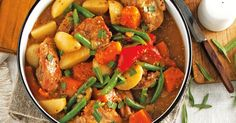 This healthy honey mustard chicken stew makes a hearty, nutritious meal for the whole family.