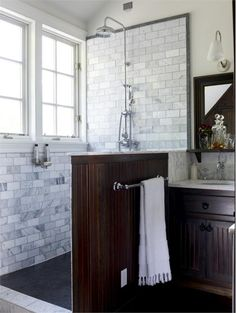 Transitional (Eclectic) Bathroom by Kathryn Scott
