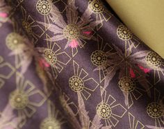 Ricin (Castor Oil Plant) VELVET Fabric - Fabric by the metre - Upholstery Fabric - Inspired by Agatha Christie