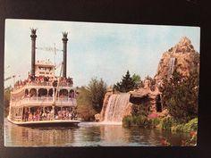 Vintage Disneyland Frontierland Postcard - Mark Twain Steamboat - Cascade Peak by VintageDisneyana on Etsy