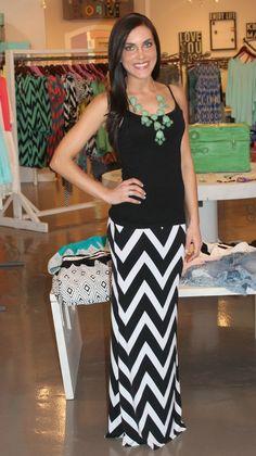 Dottie Couture Boutique - Chevron Maxi Skirt, $42.00 (http://www.dottiecouture.com/chevron-maxi-skirt/)