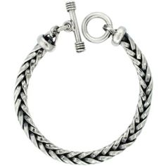 This Bracelet is all handmade, Solid Sterling Silver with excellent quality workmanship that looks and feels Solid and substantial. Link Bracelets, Jewelry Bracelets, Handmade Silver, 9 Mm, Sterling Silver, Personalized Items, Men