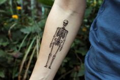 Human Skeleton Temporary Tattoo!