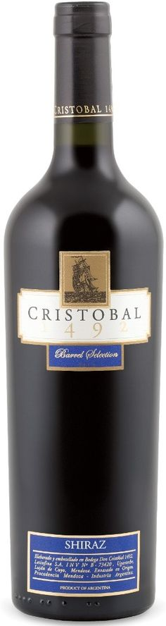 """""""Cristobal 1492 Barrel Selection"""" Syrah 2011 - Bodega Don Cristobal, Luján de Cuyo, Mendoza-----------Terroir: Ugarteche------------Crianza: 12 meses en barricas nuevas de roble francés."""