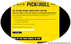 To win a trip to a Regular Season NBA Game of your choice & $25 NBA store gift card.