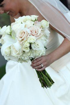 Winter Wedding Flowers Ideas simple roses   Winter Bridal Bouquet   CenturyCityFlowerMarket