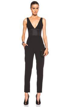 29a9d9f1913a NICHOLAS Crepe Deep V Jumpsuit in Black  535.00