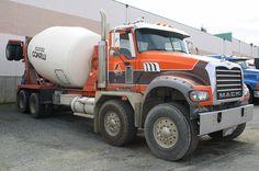 Dodge Pickup Trucks, Mack Trucks, Mix Concrete, Concrete Mixers, Peterbilt, Cool Trucks, Big Trucks, Pop Up Truck Campers, Cement Mixer Truck