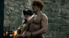 Some gratuitous Jamie stills. You certainly can see his (Sam's) triathlon training in his muscular frame.