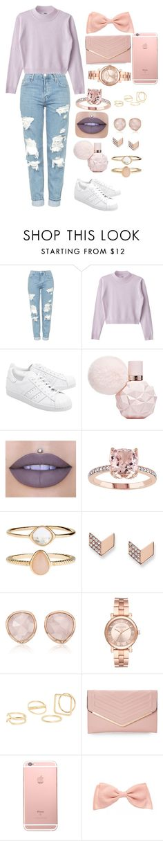 """""""#24"""" by lilipandicorn22 ❤ liked on Polyvore featuring Topshop, adidas Originals, Jeffree Star, Accessorize, FOSSIL, Monica Vinader, Michael Kors, MANGO and Sasha"""