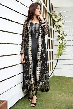 Zainab Hasan Chantilly De Lace Eid Formal Dresses Collection consists of amazing designs of ladies wear fancy suits like gowns, frocks, double shirts, kurtis etc. Ethnic Fashion, Girl Fashion, Fashion Dresses, Fashion Clothes, Pakistani Dress Design, Pakistani Dresses, Shrug For Dresses, Formal Dresses, Long Dresses