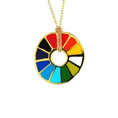 Color Wheel Pendant -- in silver maybe?