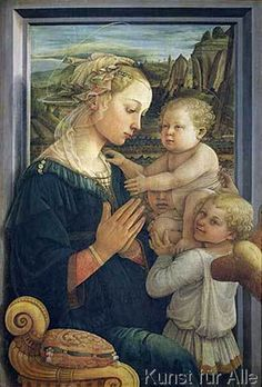 Fra Filippo Lippi - Madonna and Child with Angels, c.1455