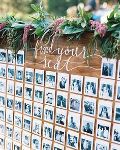20 Personalized Wedding Ideas You'll Want to Copy | Martha Stewart Weddings - A DIY project never looked so fun. Have a blast stalking all your guests for old photos and print them on Polaroid-style cardstock for the ultimate personal throwback seating chart idea.