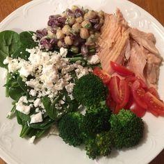 Hälsotallrik med lax och bönsallad! God och nyttig! Receptet är hämtat från #ellemat&vin