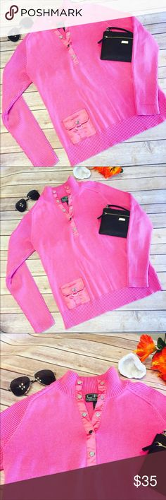 ⚡️⚡️NWOT Raspberry Pink Lauren Active Sweater Gorgeous Raspberry Pink Lauren Active Sweater By Ralph Lauren. Has Quarter Snapped Up Top And A Nice Little Pocket On The Lower Front. This Is New Without Tags, Has Never Been Worn Just Tried On. Does Have A Very Small Snag Right Next To Pocket, But Other Then That It Is Flawless! Lauren Ralph Lauren Sweaters