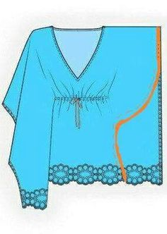 . Hope Fashion, Fashion Outfits, Womens Fashion, Clothing Patterns, Sewing Patterns, Kaftan Pattern, Diy Clothes, Clothes For Women, Silk Tunic