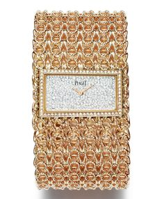 db9d31bdfd9 PIAGET - Creative Collection Limelight Couture Précieuse cuff watch - -  Gold chain cuff watch in pink Gold set with 400 brilliant-cut Diamonds  (approx.