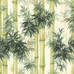 Add character to any room with this green, bamboo inspired wallpaper from the Senzai Wallpaper Collection. Available online at Go Wallpaper UK