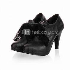 Increíble cuero del talón de estilete atados-para arriba los cargadores del tobillo del partido / zapatos de noche (más colores) - EUR € 20.62