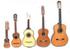 Andean instruments - charango, the Venezuelan cuatro, the Vihuela and Jaranas from Mexico, the Colombian tiple, guitar.