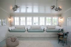 Love these window seats from designer Erika Powell